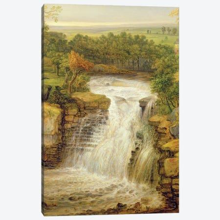 The Falls Of The Clyde After A Flood, 1852 Canvas Print #BMN11161} by James Ward Canvas Print