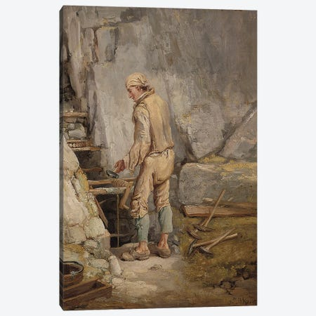 The Miner Canvas Print #BMN11163} by James Ward Canvas Print
