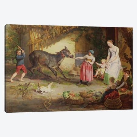 The Obstinate Ass Canvas Print #BMN11164} by James Ward Canvas Art