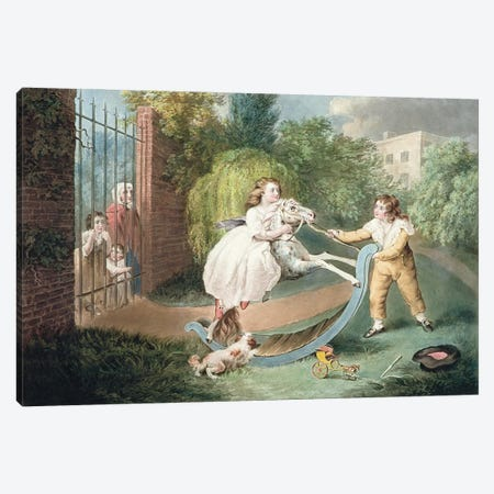 The Rocking Horse, C.1793 Canvas Print #BMN11167} by James Ward Canvas Wall Art