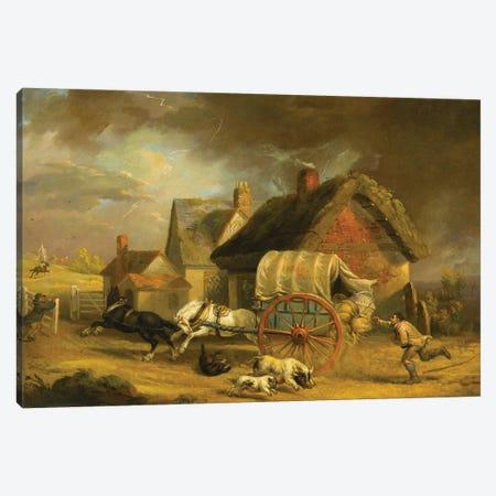 The Runaway Wagon Canvas Print #BMN11168} by James Ward Canvas Art Print