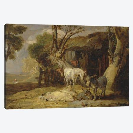 The Straw Yard, 1810 Canvas Print #BMN11169} by James Ward Canvas Print