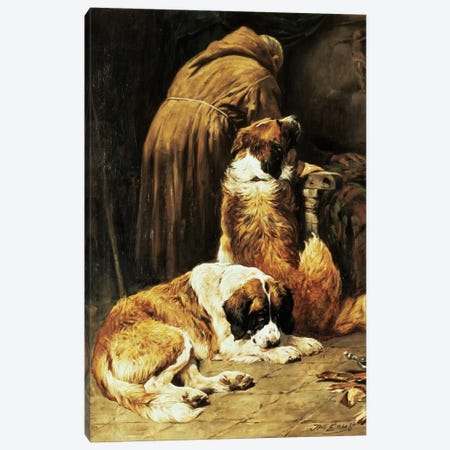 The Faith of St. Bernard Canvas Print #BMN1116} by John Emms Canvas Print