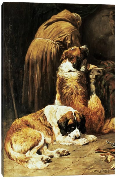 The Faith of St. Bernard Canvas Art Print