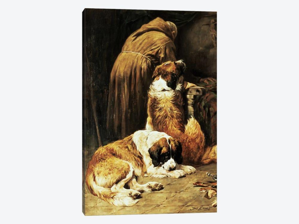 The Faith of St. Bernard by John Emms 1-piece Canvas Print