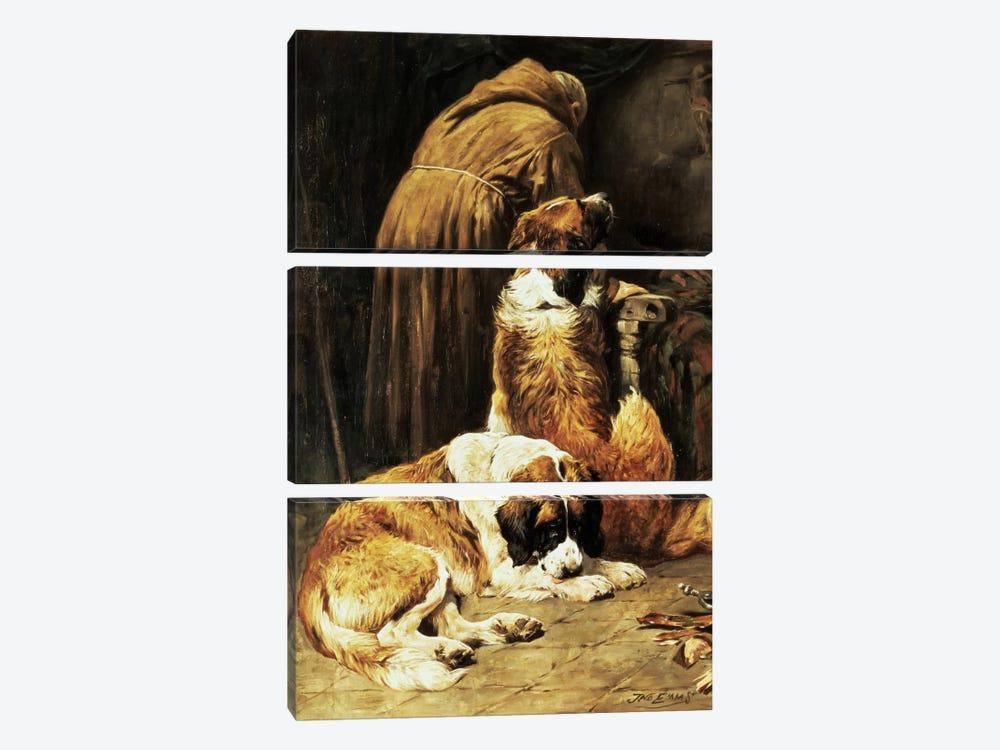 The Faith of St. Bernard by John Emms 3-piece Canvas Print