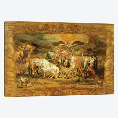 The Triumph Of Arthur Duke Of Wellington Canvas Print #BMN11170} by James Ward Canvas Wall Art