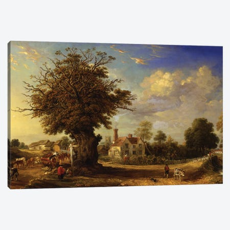 The Yeldham Oak At Great Yeldham, Essex, 1833 Canvas Print #BMN11171} by James Ward Canvas Art