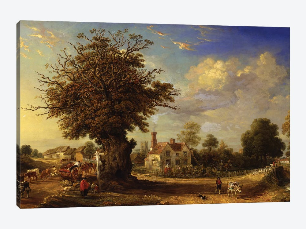 The Yeldham Oak At Great Yeldham, Essex, 1833 by James Ward 1-piece Canvas Print