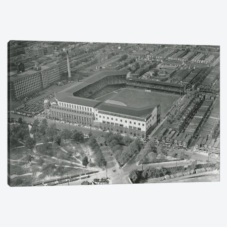 Aerial View Of Shibe Park, Game 1, World Series, October 1, 1930 Canvas Print #BMN11173} by American Photographer Canvas Artwork