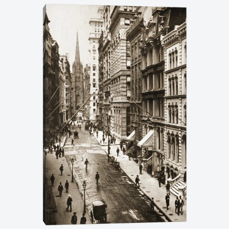 Wall Street, New York City, 1898 Canvas Print #BMN11182} by American Photographer Canvas Art Print