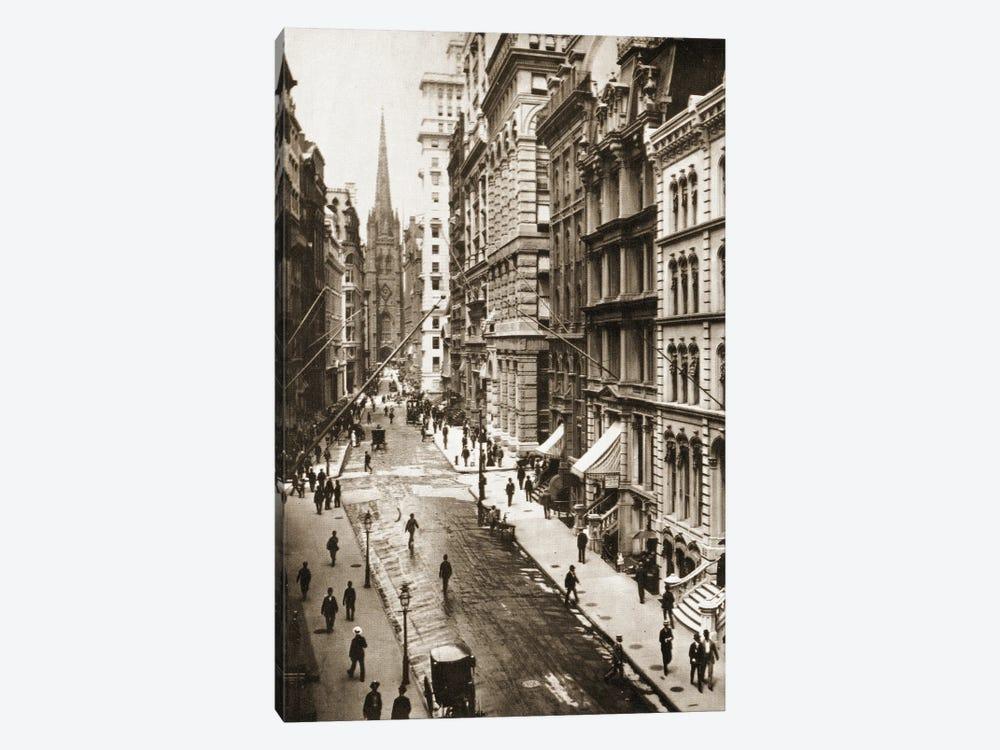 Wall Street, New York City, 1898 by American Photographer 1-piece Canvas Art Print