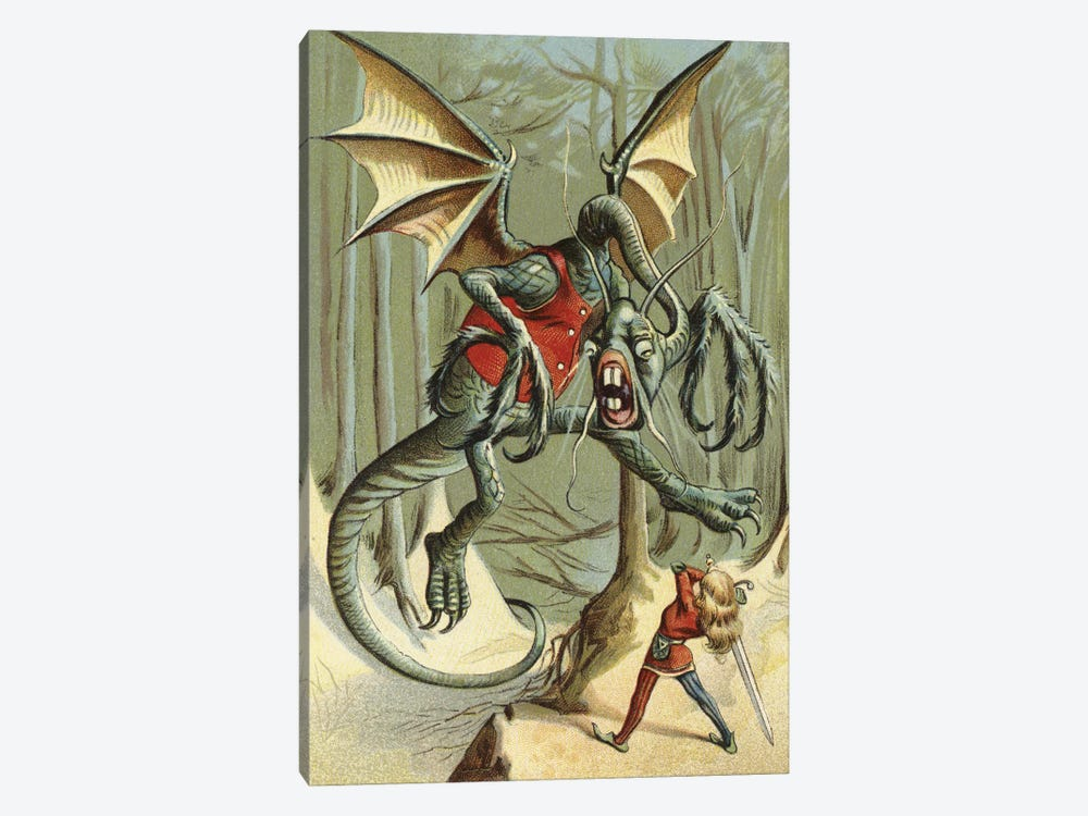 Beware The Jabberwock, My Son (Illustration From Carroll's Through The Looking-Glass, And What Alice Found There) by American School 1-piece Canvas Wall Art