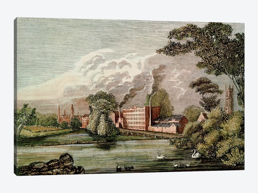 Sir Thomas Lombe's Silk Mill, Derby, 18th century  1-piece Art Print