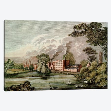 Sir Thomas Lombe's Silk Mill, Derby, 18th century  Canvas Print #BMN1118} by Unknown Artist Canvas Wall Art
