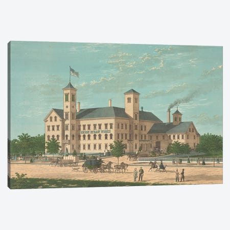Union Straw Works, Foxboro, Massachusets Canvas Print #BMN11196} by American School Canvas Art Print