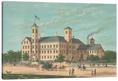 Union Straw Works, Foxboro, Massachusets Canvas Art Print