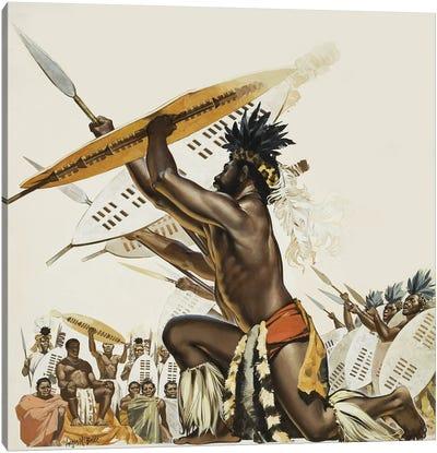 African Warriors Canvas Art Print