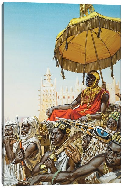 Mansa Kankan Musa I, 14th Century King Of The Mali Empire Canvas Art Print