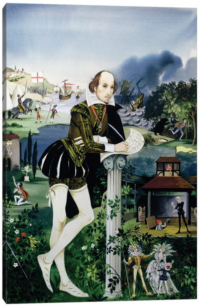 """Cover Illustration From """"Finding Out, Shakespeare's World"""" Canvas Art Print"""