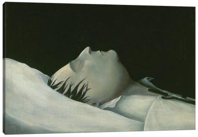 Napoleon On His Deathbed On St. Helena, 1821 Canvas Art Print
