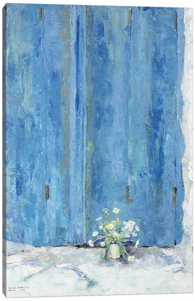 Blue Shutter, 1990 Canvas Art Print