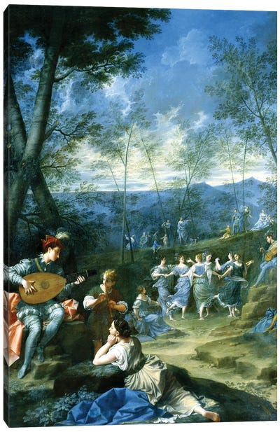 Dance Of The Nymphs, c.1725 Canvas Art Print