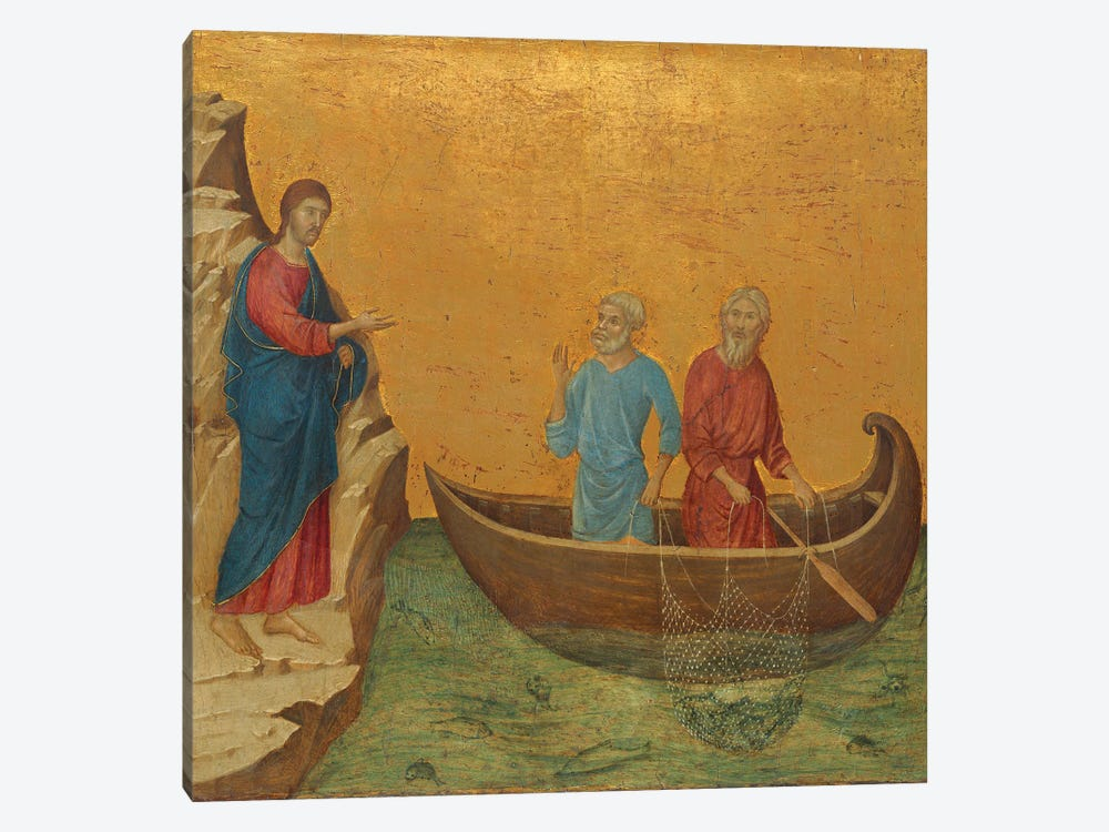 The Calling Of The Apostles Peter And Andrew, Reverse Side Of Maestà Altarpiece, 1308-11 by Duccio di Buoninsegna 1-piece Canvas Print