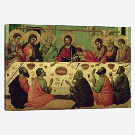 The Last Supper, Reverse Side Of Maestà Altarpiece, 1308-11 Canvas Print #BMN11234} by Duccio di Buoninsegna Canvas Wall Art