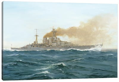HMS Hood, 1919 Canvas Art Print
