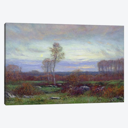 Autumn Evening Canvas Print #BMN11236} by Dwight William Tryon Canvas Wall Art