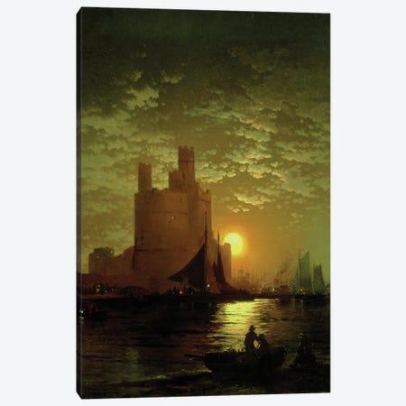 Moonlit Scene Canvas Print #BMN11241} by Edward Moran Canvas Artwork
