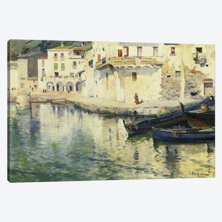 The Port Of Cadaques Canvas Print #BMN11243} by Eliseu Meifrèn i Roig Canvas Wall Art