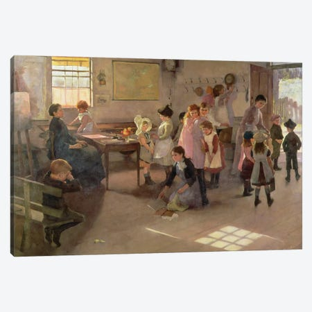 School Is Out, 1889 Canvas Print #BMN11246} by Elizabeth Adela Stanhope Forbes Canvas Art Print