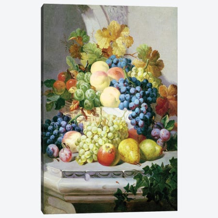 Still Life With Grapes And Pears Canvas Print #BMN11250} by Eloise Harriet Stannard Art Print