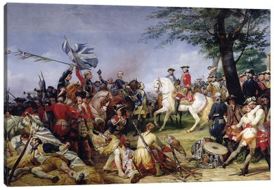 The Battle Of Fontenoy (11th May 1745), 1828 Canvas Art Print