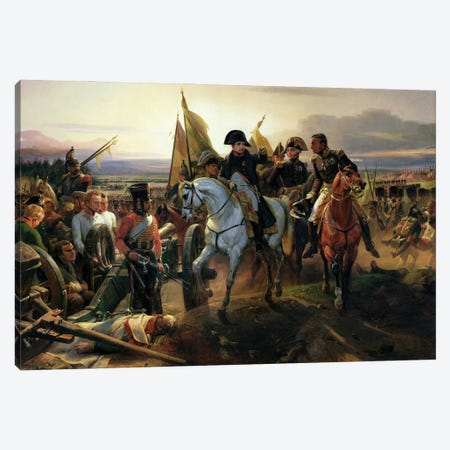 The Battle Of Friedland, 14th June 1807 Canvas Print #BMN11259} by Emile Jean Horace Vernet Art Print