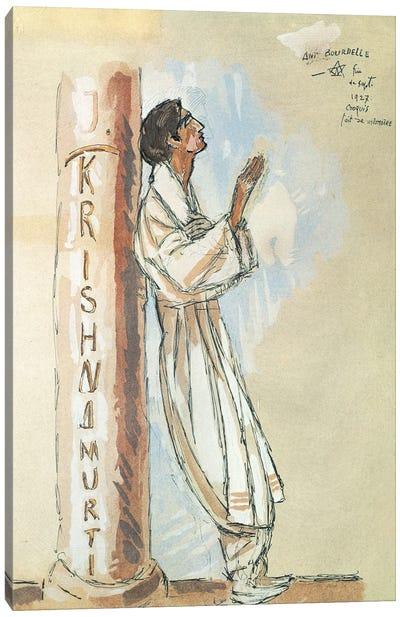 Krishnamurti, 1927 Canvas Art Print