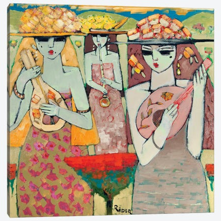 Musicians Canvas Print #BMN11264} by Endre Roder Art Print