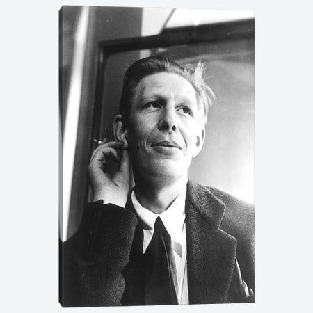 W.H. Auden Canvas Print #BMN11268} by English Photographer Canvas Wall Art