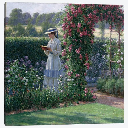 Sweet Solitude, 1919 Canvas Print #BMN1126} by Edmund Blair Leighton Canvas Wall Art