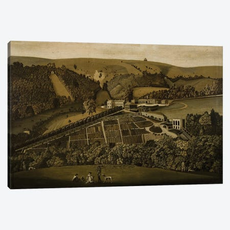 A Panoramic View Of Ashcombe, Wiltshire, 1770 Canvas Print #BMN11271} by English School Canvas Art Print