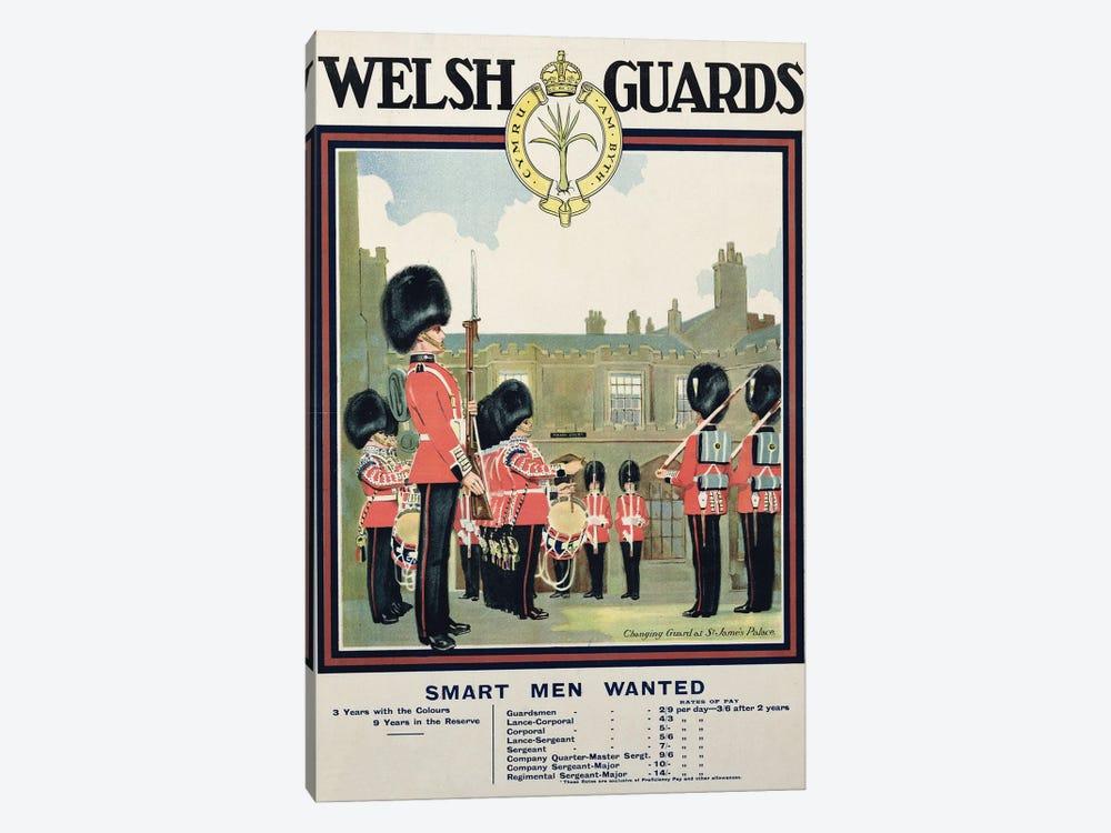 Smart Men Wanted, Welsh Guards Recruitment Poster, 1919 by English School 1-piece Art Print
