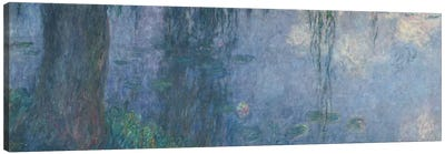 Waterlilies: Morning with Weeping Willows, detail of the left section, 1914-18   Canvas Art Print