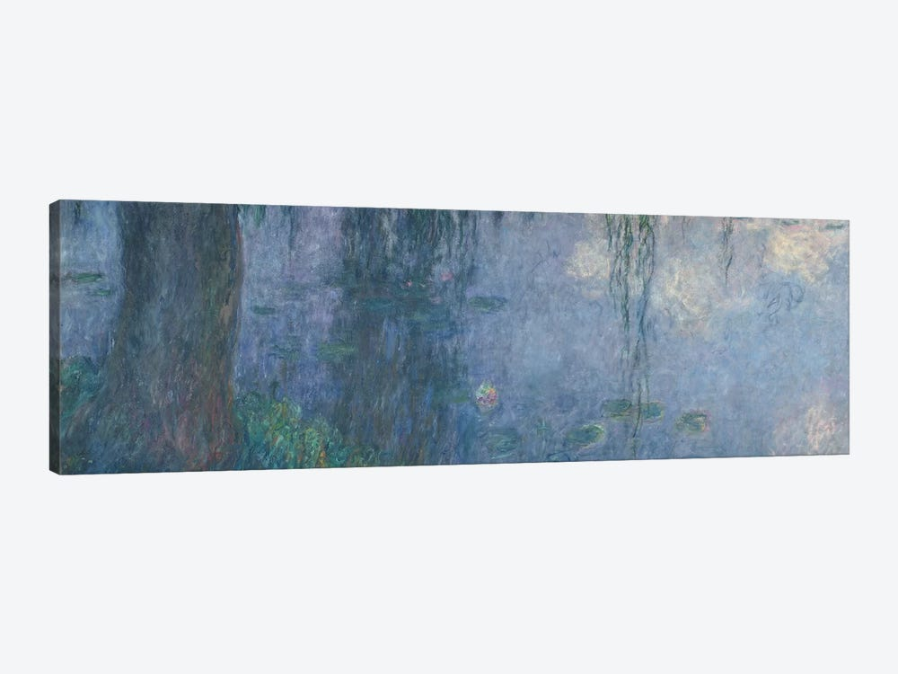 Waterlilies: Morning with Weeping Willows, detail of the left section, 1914-18   by Claude Monet 1-piece Canvas Art Print
