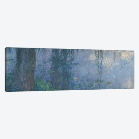 Waterlilies: Morning with Weeping Willows, detail of the left section, 1914-18   Canvas Print #BMN1127} by Claude Monet Canvas Artwork