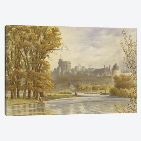 Windsor Castle From The Thames Canvas Print #BMN11285} by English School Art Print
