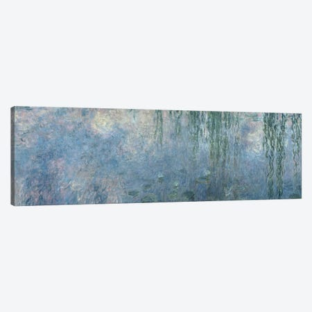 Waterlilies: Morning with Weeping Willows, detail of central section, 1914-18   Canvas Print #BMN1128} by Claude Monet Art Print