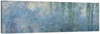 Waterlilies: Morning with Weeping Willows, detail of central section, 1914-18   Canvas Art Print
