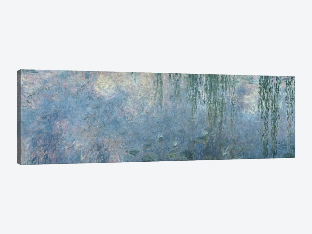 Waterlilies: Morning with Weeping Willows, detail of central section, 1914-18   by Claude Monet 1-piece Canvas Wall Art